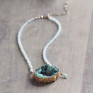 Druzy Statement Necklace - statement jewellery