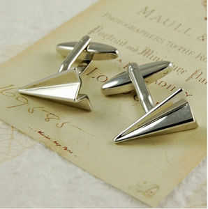 Paper Airplane Cufflinks - men's jewellery
