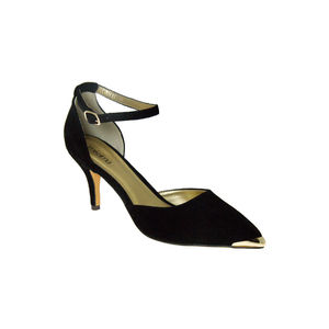 Joy Women's Mid Heel Court With Gold Trim - shoes