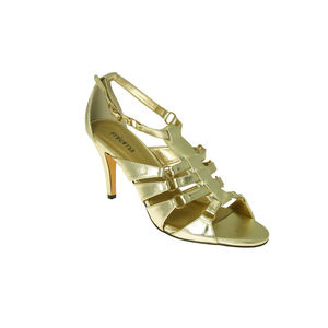 Alicia Women's Gold Ring Trim Heeled Sandal - summer footwear
