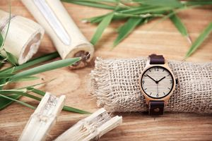 Natural Brown Bamboo Watch - watches