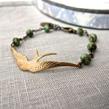 Soaring Bird And Turquoise Bracelet