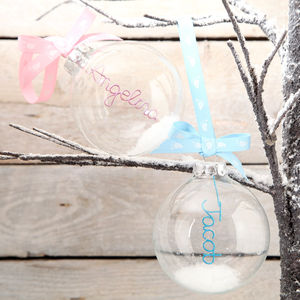 Personalised Glass New Baby Bauble - view all decorations