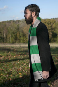 Grey And Green College Scarf
