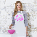 'Bring On The Bake Off' Apron, Pink