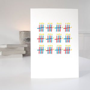 60th Birthday Card With 60 Candles Design - birthday cards