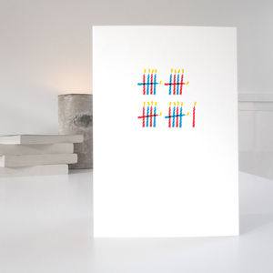 'Who's Counting?' 21st Birthday Card