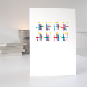 'Who's Counting?' 40th Birthday Card