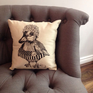 Victoria Duckling Cushion - bedroom