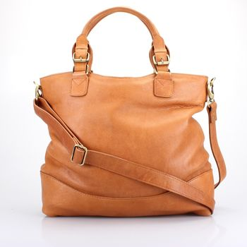 Tan Leather Handbag Tote