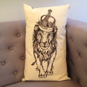 Lion King Cushion - patterned cushions