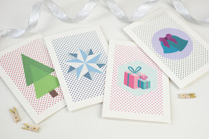 Modern Colourful Christmas Card