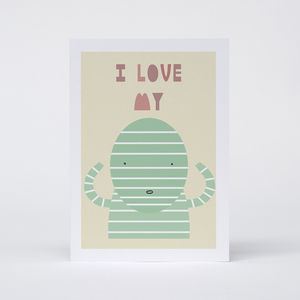 'I Love My Mummy' Card - mother's day cards