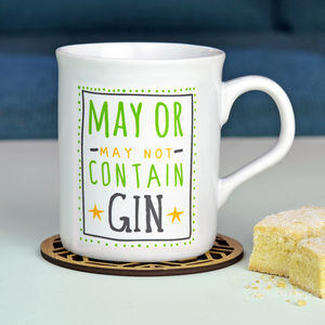 'May Contain Gin' Ceramic Mug - view all gifts for her
