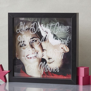 Personalised Etched Framed Print For Mum - posters & prints