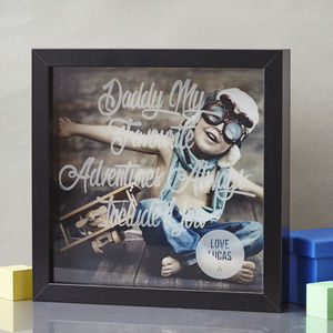 Personalised Etched Framed Print For Dad