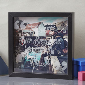 Personalised Quote Etched Framed Print - picture frames