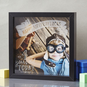 Personalised Child's Etched Framed Print - mixed media pictures for children
