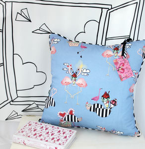 Flamingo Sundae Cushion - decorative accessories