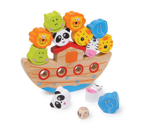 Small Wooden Balancing Ark - traditional toys & games