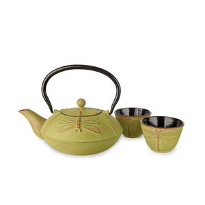 Japanese Style Cast Iron Teapot With Cups = Toshima