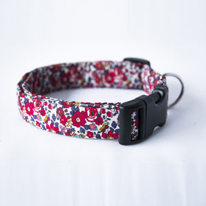 Betsy Liberty Fabric Dog Collar - dog collars
