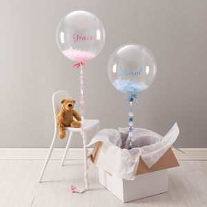 New Baby Feather Filled Balloon - new baby gifts
