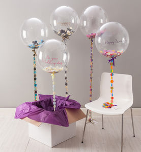 Bespoke Circle Confetti Balloon - outdoor decorations