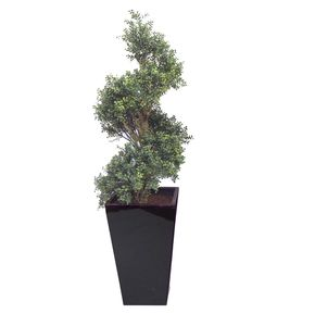 Artificial Boxwood Spiral Topairy