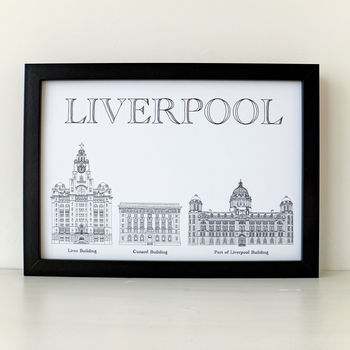 Liverpool's Three Graces Print