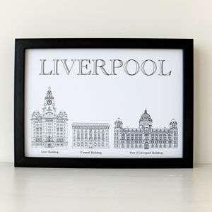 Liverpool's Three Graces Print - architecture & buildings