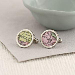Personalised Map Cufflinks - jewellery for men