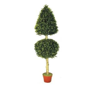 Artificial Ball And Cone Topiary Tree