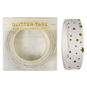 Gold Stars Glitter Tape - cards & wrap
