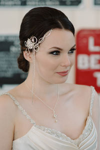 Caitlyn Art Deco Inspired Headpiece - bridal hairpieces
