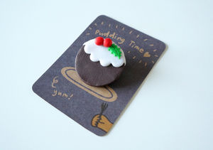 Christmas Pudding Brooch - women's jewellery