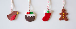 Christmas Ornaments Set Of Four - whatsnew