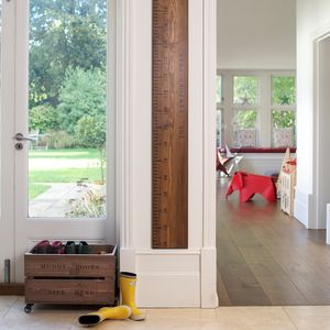 Wooden Ruler Growth Chart In Aged Oak - baby's room