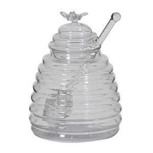 Bumblebee Honey Glass Storage Pot