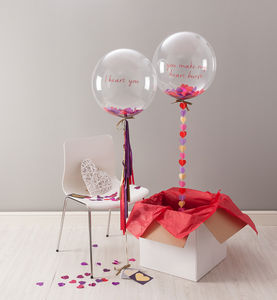 Valentines Confetti Filled Balloon - bunting & garlands