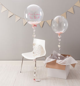 Swoon Heart Confetti Filled Balloon - outdoor decorations