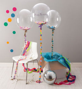 Birthday Confetti Filled Balloon - 30th birthday gifts