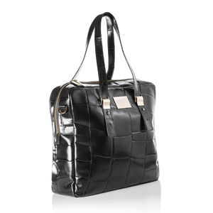 Large Tote In Oversized Mock Croc Leather