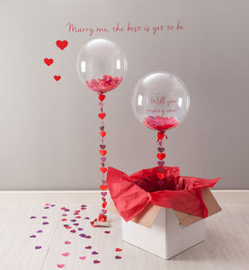 Will You Marry Me? Balloon - proposal ideas