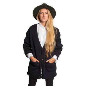 Vale Wool Guernsey Cardigan - women's fashion