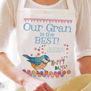 Personalised 'Happy Days' Apron