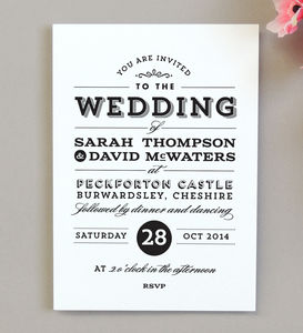 Frankie Vintage Style Wedding Invitation - invitations