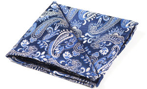 Snowden Woven Silk Pocket Square - hats, scarves & gloves