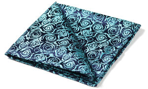 Narcissus Woven Silk Pocket Square