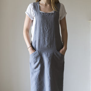 Linen Artisan Cross Over Apron - garden sale
